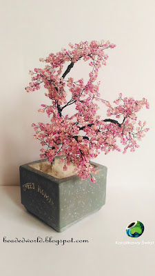 drzewko z koralików