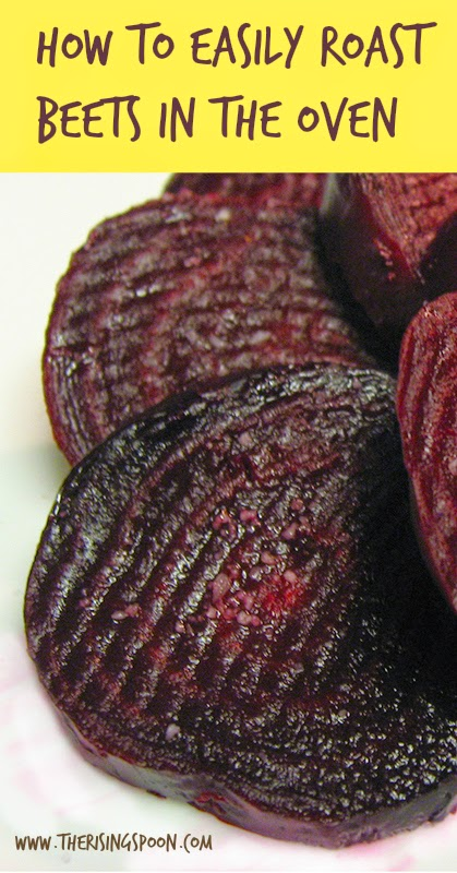 Roasted Beet Slices with Fleur de Sel + How to Roast Fresh Beets | www.therisingspoon.com