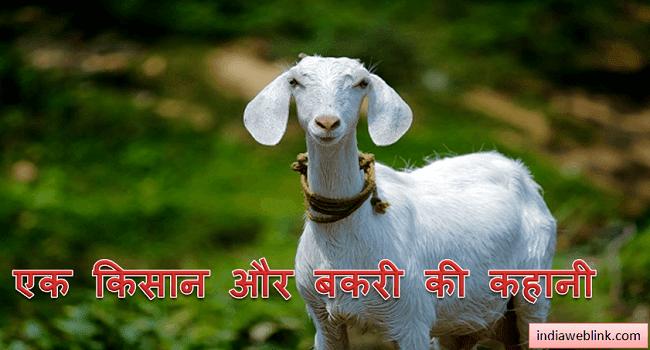 is kahani me ek bakri aur kisan ke pyar ko darshaya gaya hai. bakri kisan se kho jati hai tab kisan usko wapas pa leta hai. yah story hai ek farmer or goat ki