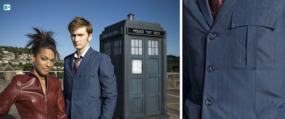 10th Doctor blue suit fabric