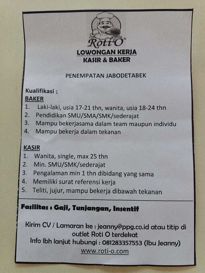 Loker Cileungsi Bogor Depok Bekasi Cibubur Loker Rotti O Jabotabek