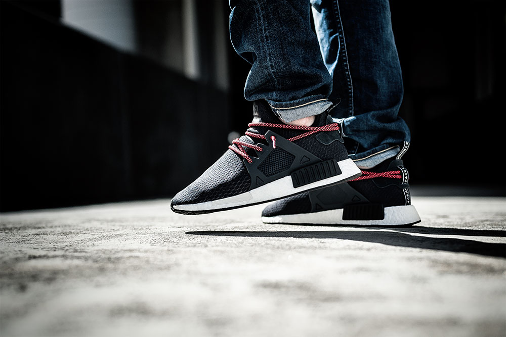 Denham The Jeanmaker Razor NISS Stone Wash Selvedge Jeans / JD Sports X Adidas Originals NMD XR1 Black Sneakers by Tom Cunningham