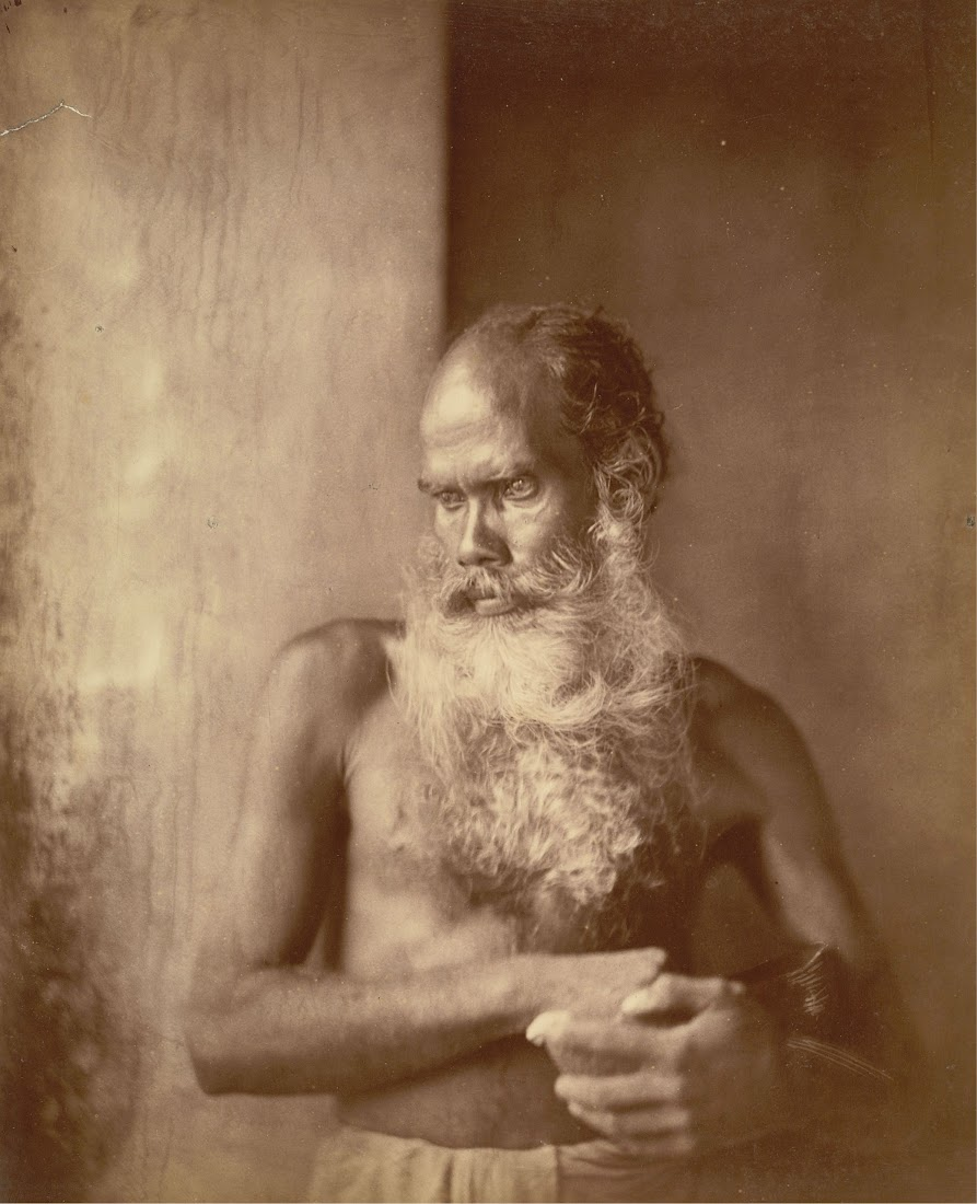 Portrait of a Religious Mendicant (Dervish of the Sufi Chishti order) - Eastern Bengal c1860's