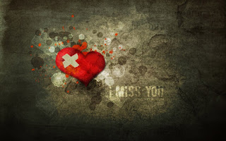 injured heart pic with i miss you text