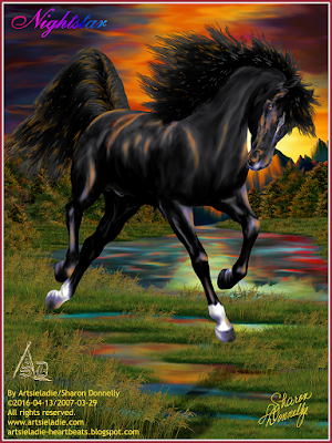 Nightstar by/copyrighted to Artsieladie/Sharon Donnelly