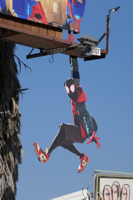 Spider-Man Spider-Verse Miles Morales cut-out billboard