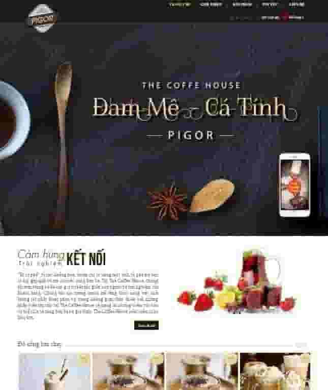 Mẫu giao diện blogspot bán hàng đồ ăn