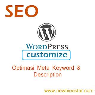tumbnail kostumasi wordpress meta keyword dan description