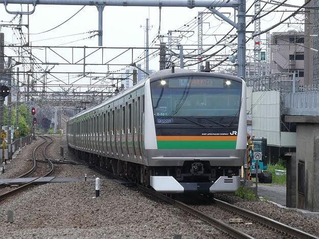 湘南新宿ライン 特別快速 大崎行き2 E233系(2018年 渋谷駅高架化工事に伴う運行)