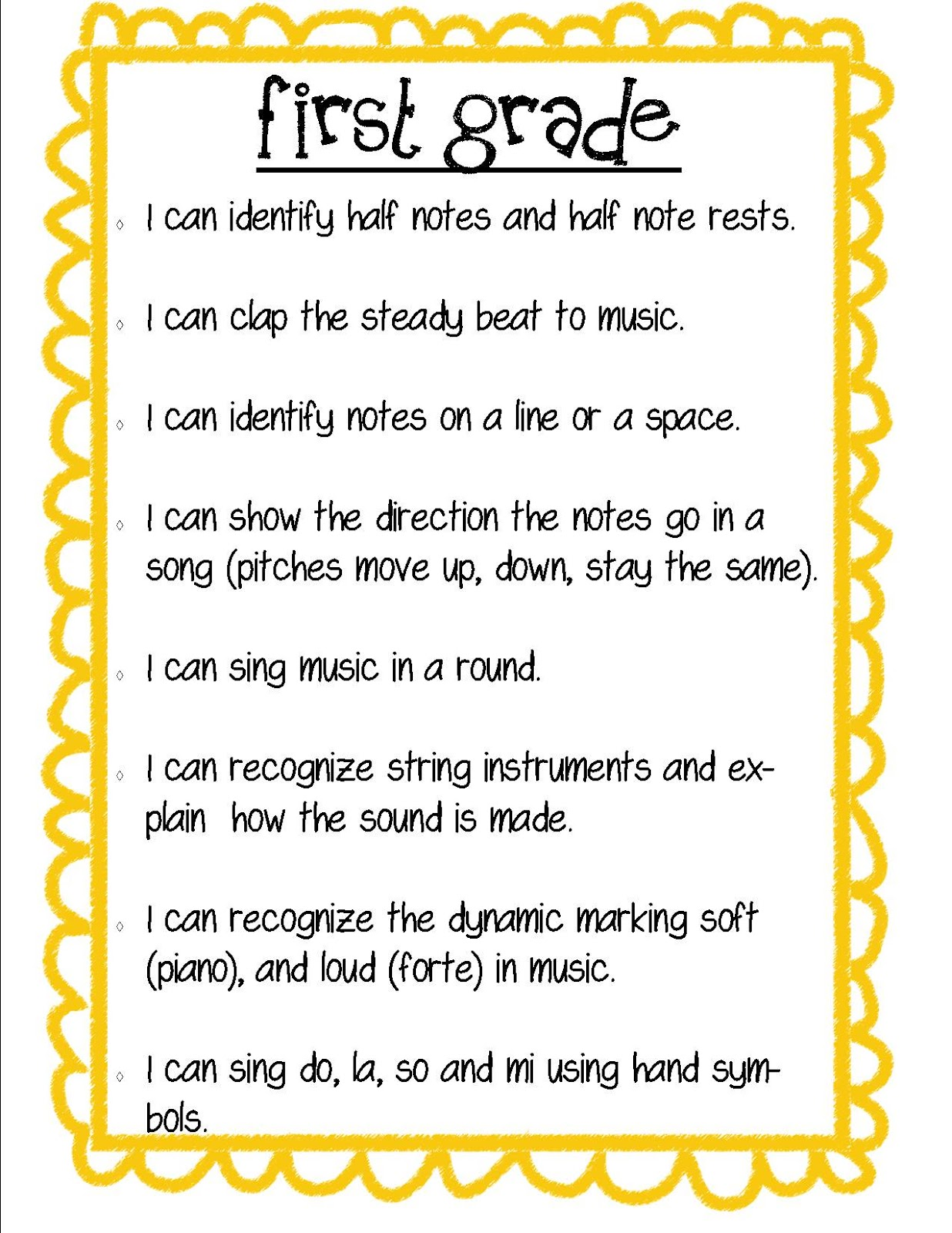 Mickelson S Music Madness Music Learning Goals