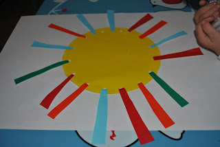 craft soare din hartie glasata