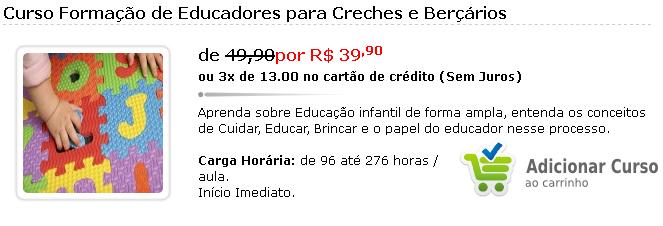 Curso Online Formação de Educadores para Creches e Berçários