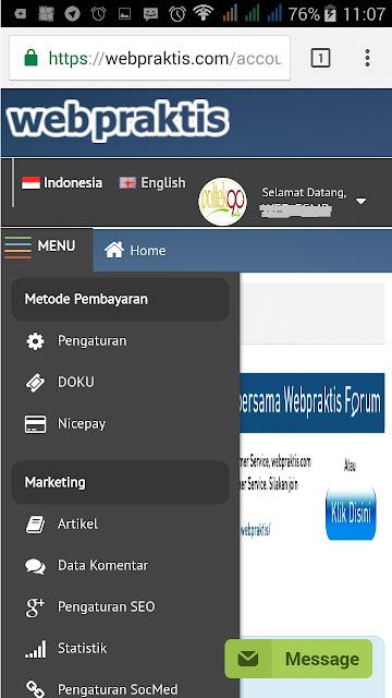 BIKIN WEBSITE .COM & TOKO ONLINE BERSUBSIDI - DASHBOARD METODE PEMBAYARAN