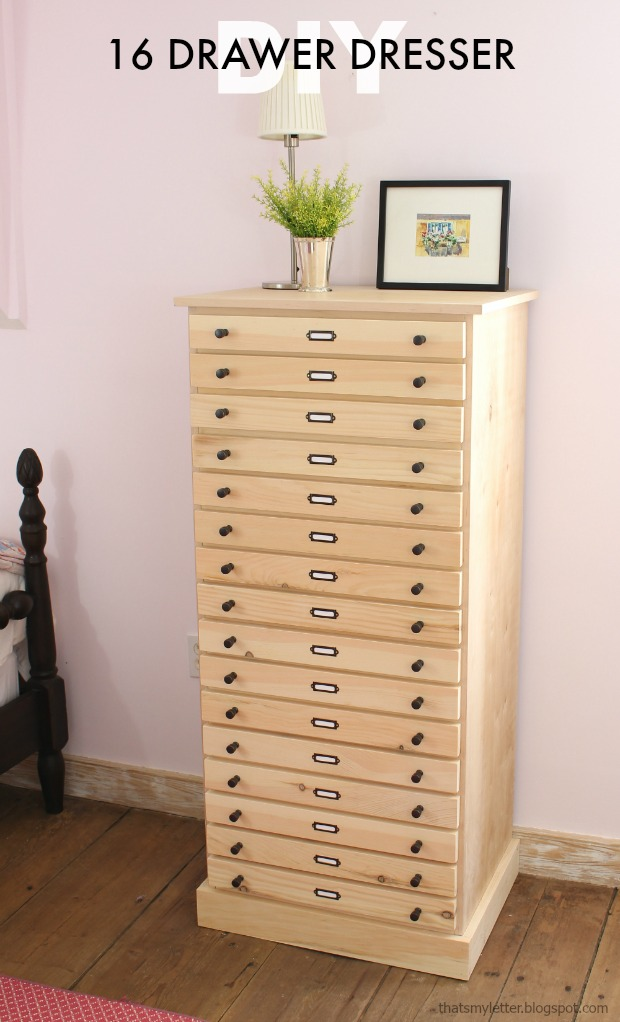 DIY 16 drawer dresser free plans