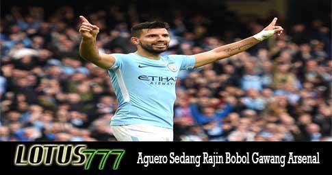 Aguero Sedang Rajin Bobol Gawang Arsenal