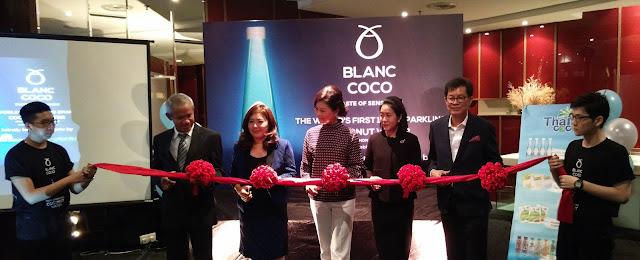 Pelancaran Air Kelapa Sparkling Blanc Coco, Minuman Susu Kelapa Thai Coco dan Makanan Ringan