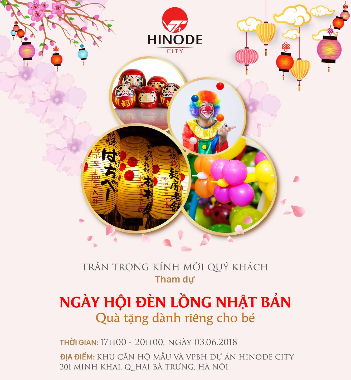 Ngày hội đèn lồng tại dự án Hinode City 201 Minh Khai