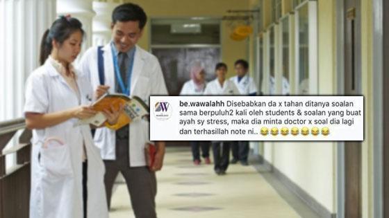 Bengang Doktor Pelatih Asyik Tanya Soalan, Anak Pesakit Tinggalkan Nota 'Kejam'