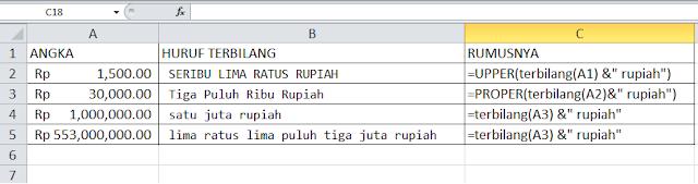 Rumus Terbilang Excel 2013 5