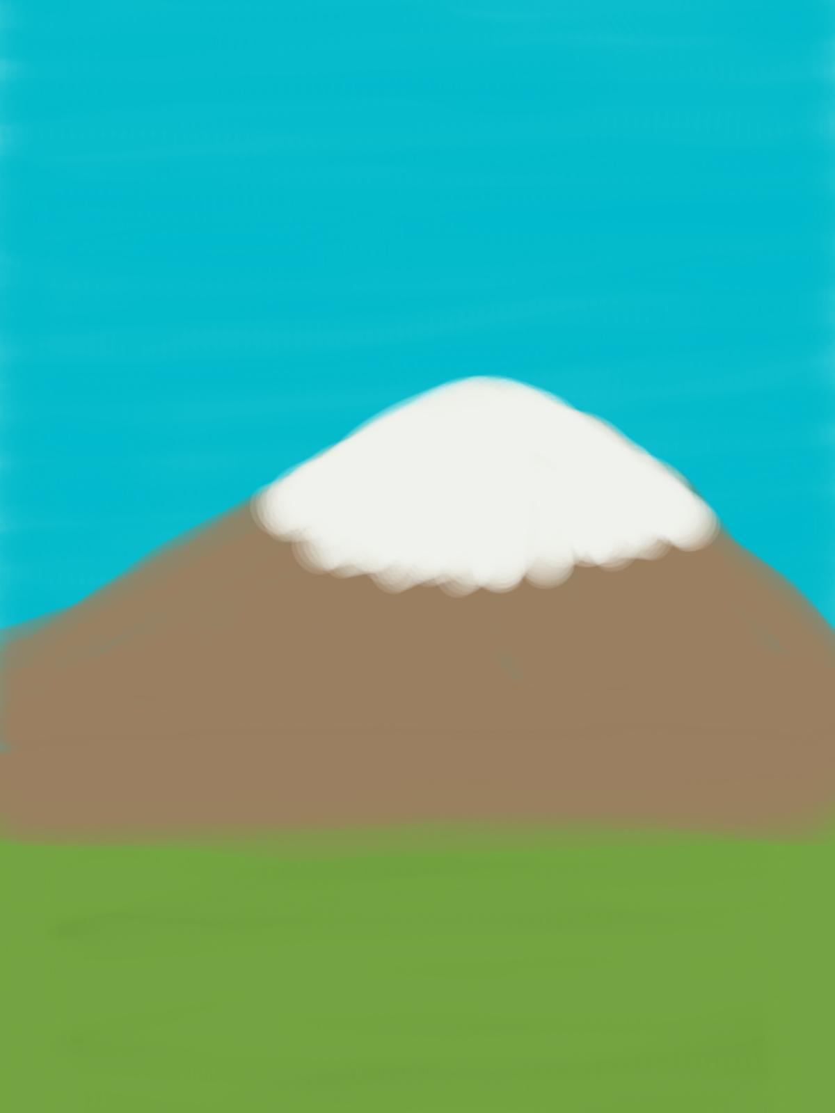 晴れた日の富士山