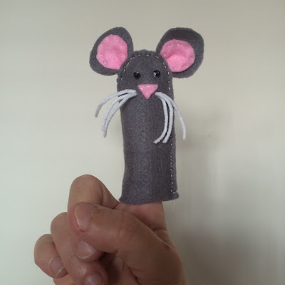 close-up of the mouse finger puppet