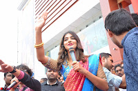 Puja Hegde looks stunning in Red saree at launch of Anutex shopping mall ~ Celebrities Galleries 136.JPG
