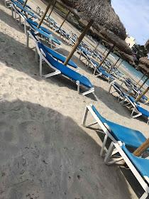 sunbeds on the beach in Majorca
