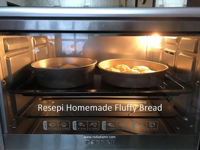 Resepi Homemade Fluffy Bread | Roti Naik Pahang