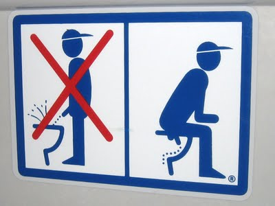 "Talking German Toilet - ""Sit! Don't Stand!"""