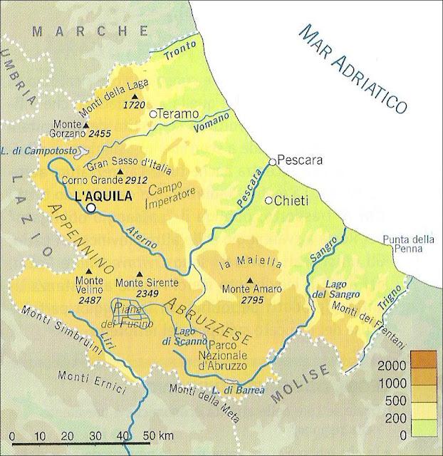 Cartina Fisica Dell Abruzzo.Chi Viaggia Impara Immagini Dal Mondo Italia Abruzzo