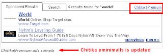 Chitika eMiniMalls dan Chitika Premium + Plugin Wordpress Chitika