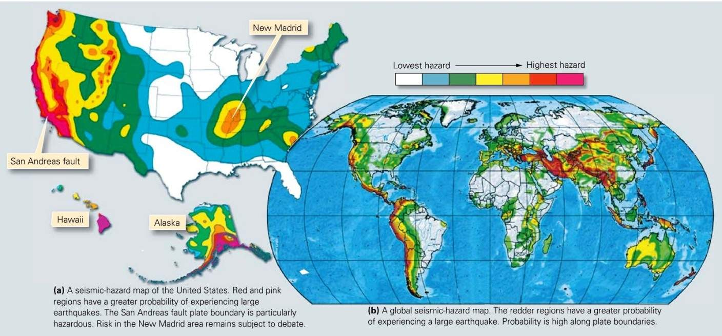 Amazing Seismic Risk Map Of The United States Galleries - Map ...