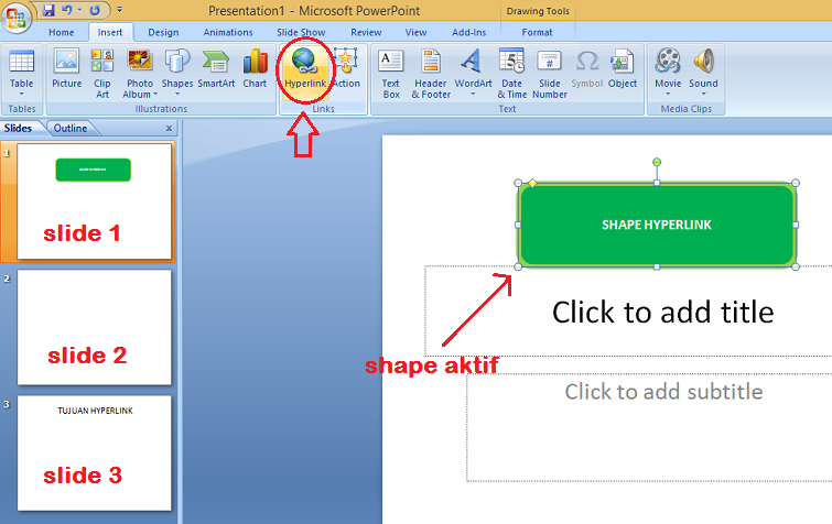 cara membuat hyperlink di powerpoint 2007 pdf