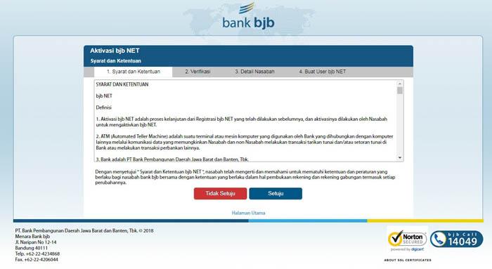 aktivasi internet bankin bjb