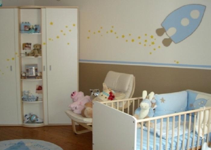 deco chambre bebe fille bleu. Black Bedroom Furniture Sets. Home Design Ideas