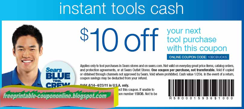 Sears coupons in store only