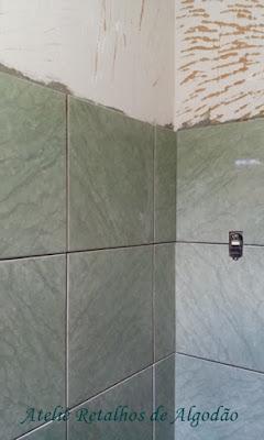 Um pouco da reforma do meu banheiro