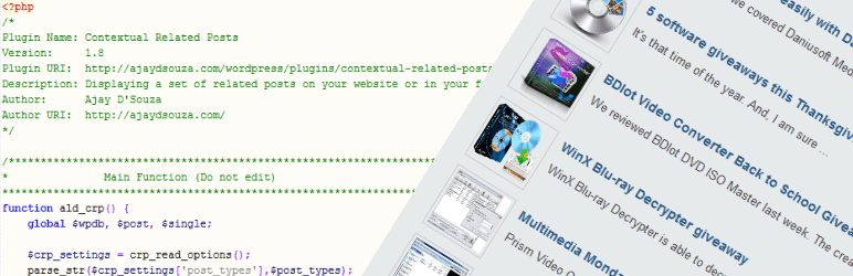 Contextual Related Posts Plugin for WordPress Self Hosted