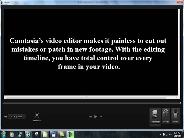 Camtasia's video editor