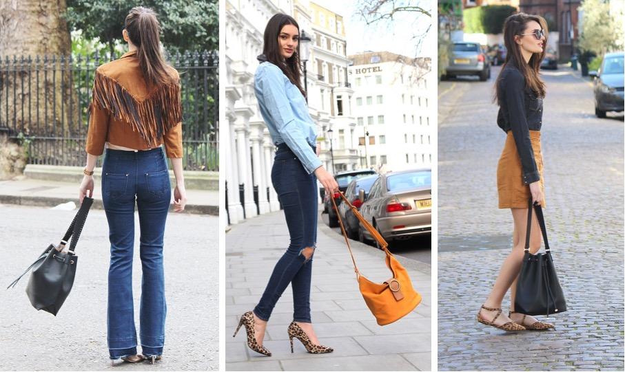 how i style bucket bags fashion blogger peexo