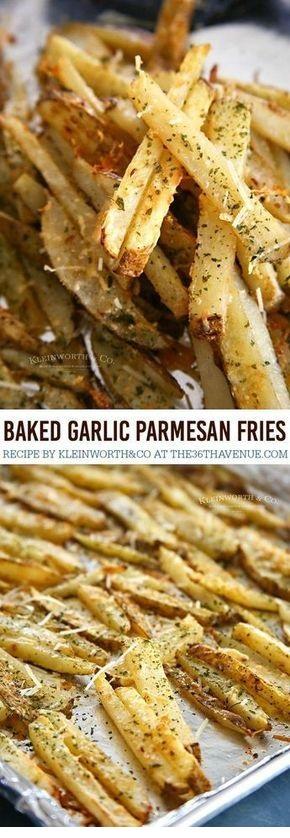 Garlic Parmesan Baked Steak Fries