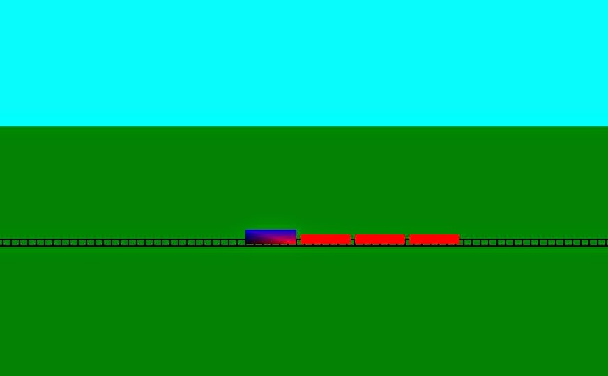 Running Train Opengl Projects Example