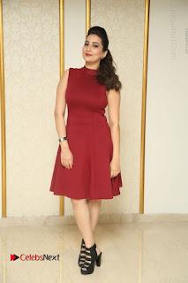 Telugu Tollywood Anchor Manjusha Pos in Red Short Dress  0158.JPG