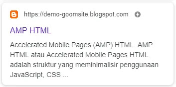 Goomsite AMP Responsive Personal Blog Download Page Blogger Template Theme