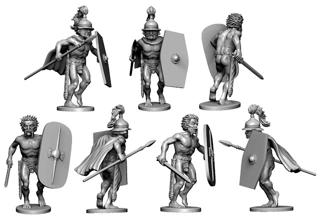 Victrix Plastic Gaul Warriors