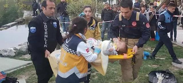 إصابة سيدة سورية جراء سقوطها وطفلها داخل بئر في إحدى حدائق إسطنبول