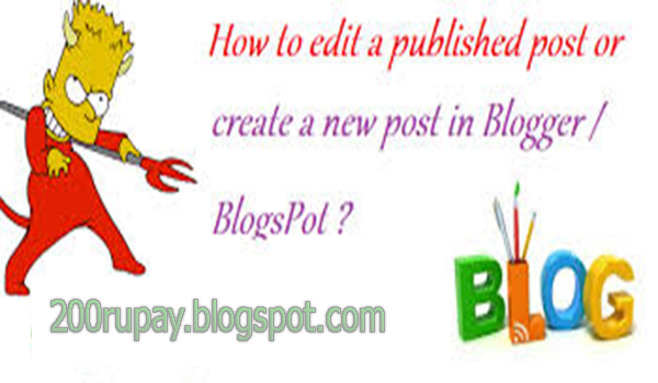 how to create blog post and Published