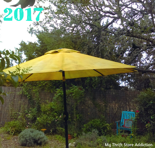 DIY upcycled painted umbrella