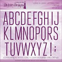 Divinity Designs Custom Long and Lean Letters Dies