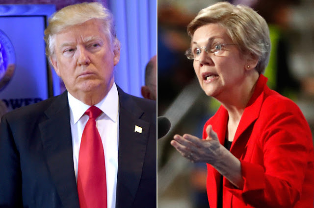 Elizabeth Warren goes after Trump and team of 'bigots'